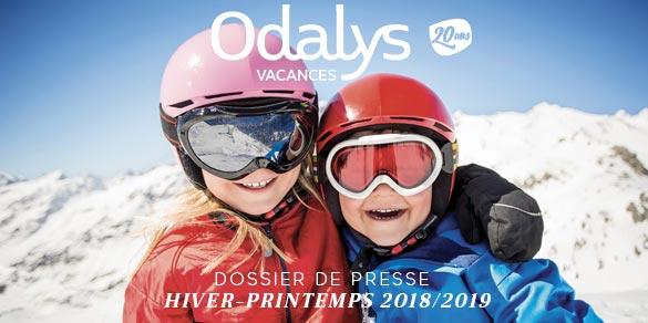 odalys dossier de presse printemps hiver 2018 2019